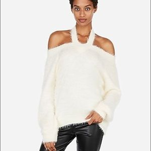 Express Feather Soft Cut-Out Sweater - NWT
